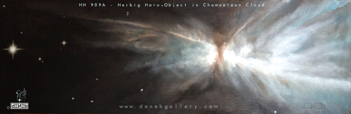 HH 909 A - HERBIG HARO by HUBBLE SPACE TELESCOPE - COME NASCE UNA STELLA