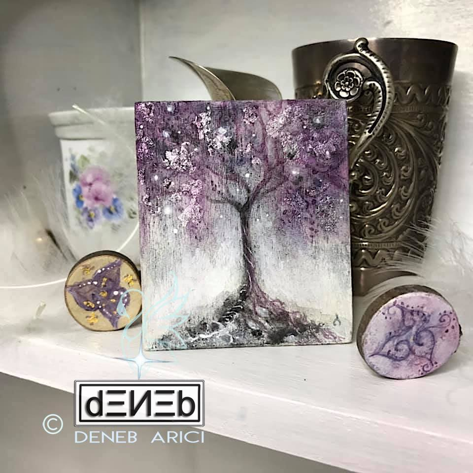 Celtic Knot beads - Cosmic Tree tiny-painting