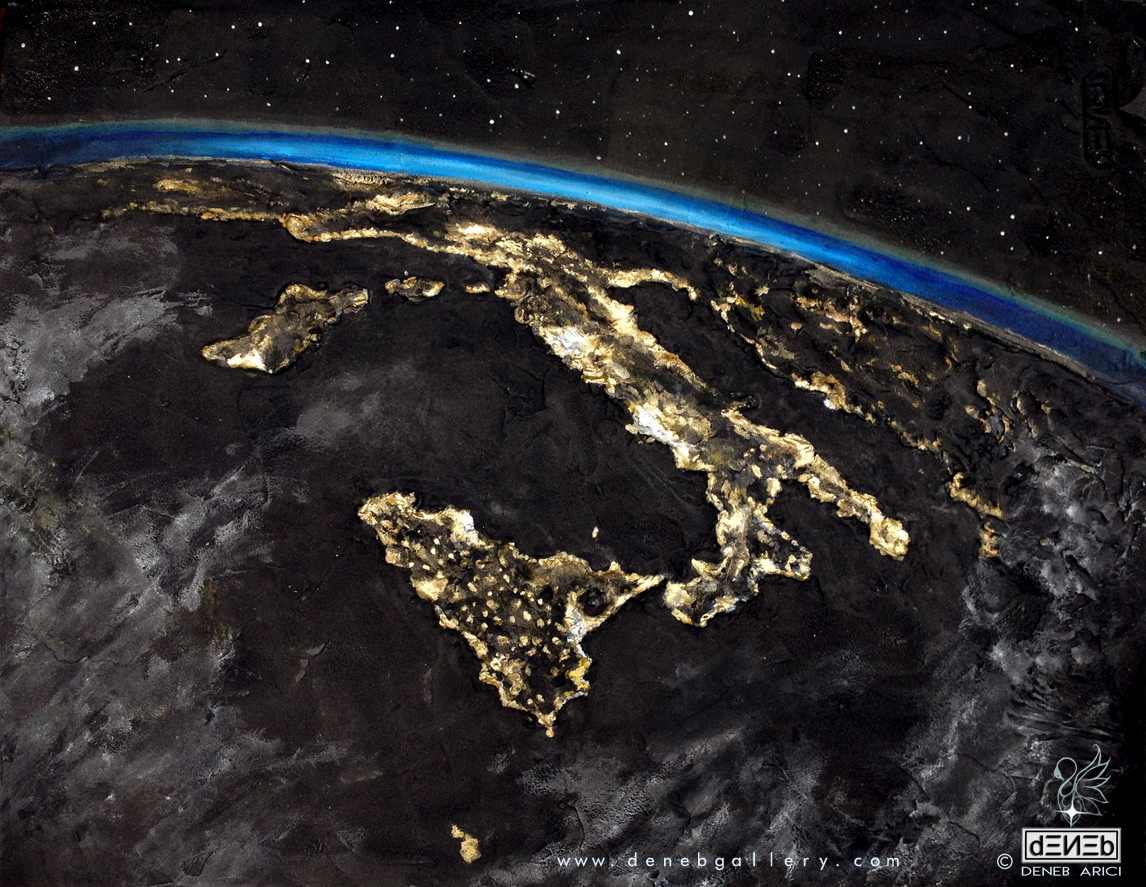 ISS - ITALY AT NIGHT
